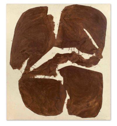 "Simon Hantaï, ""Meun"", 1968, 208,5 x 186,5 cm"