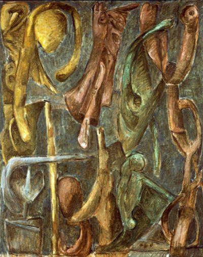 """Markus Lüpertz, """"Engelsturz"""", 1988, 250 x 200 cm"""